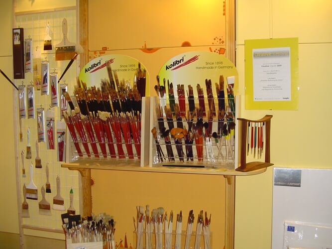 wide range of kolibri artist brushes- our booth at the creativeworld in Frankfurt 2010