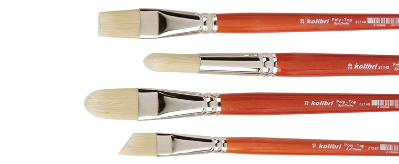 "brushes for oil and acrylic ""Poly Top"""