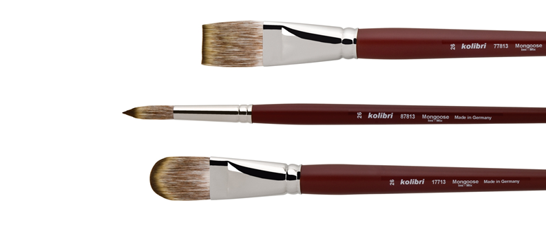 brushes for oil- and acrylic made of synthetic mongosse-Imitation mixture