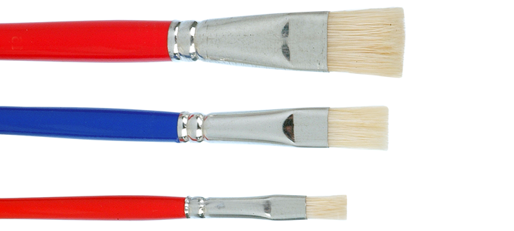 flat Bristle brush for dental lab