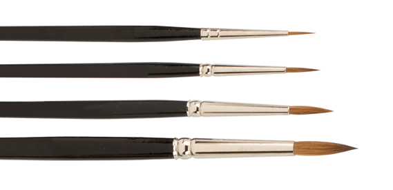 Kolinsky brushes for ceramic & porcelain
