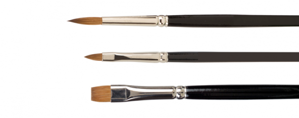watercolor brushes made of Red Sable hair