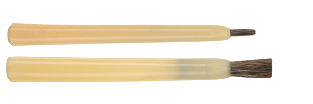 straight edged qill brushes made of fitch hair