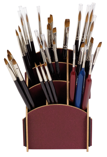 brush rack small for table with 9 compartments