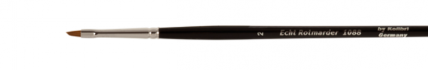 one stroke brush made of red sable, slanted shape