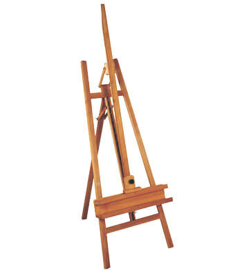 classic a-frame artist studio easel.