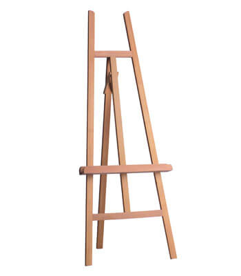 low-price basic easel for beginners and for exhibitionss
