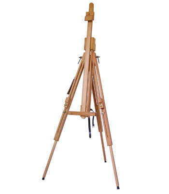 Heavy field sketch easel for canvas height 150 cm