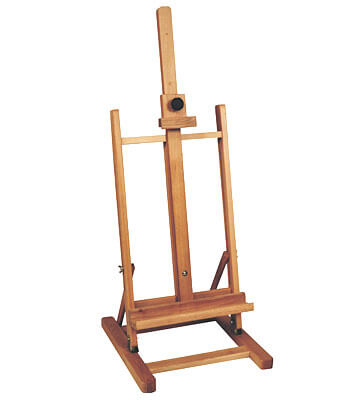 Table easel in classical design for canvas heights up to 70 cm.