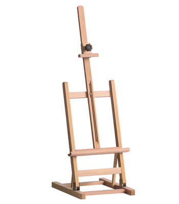 table easel in classical design for canvas heights up to 60 cm.