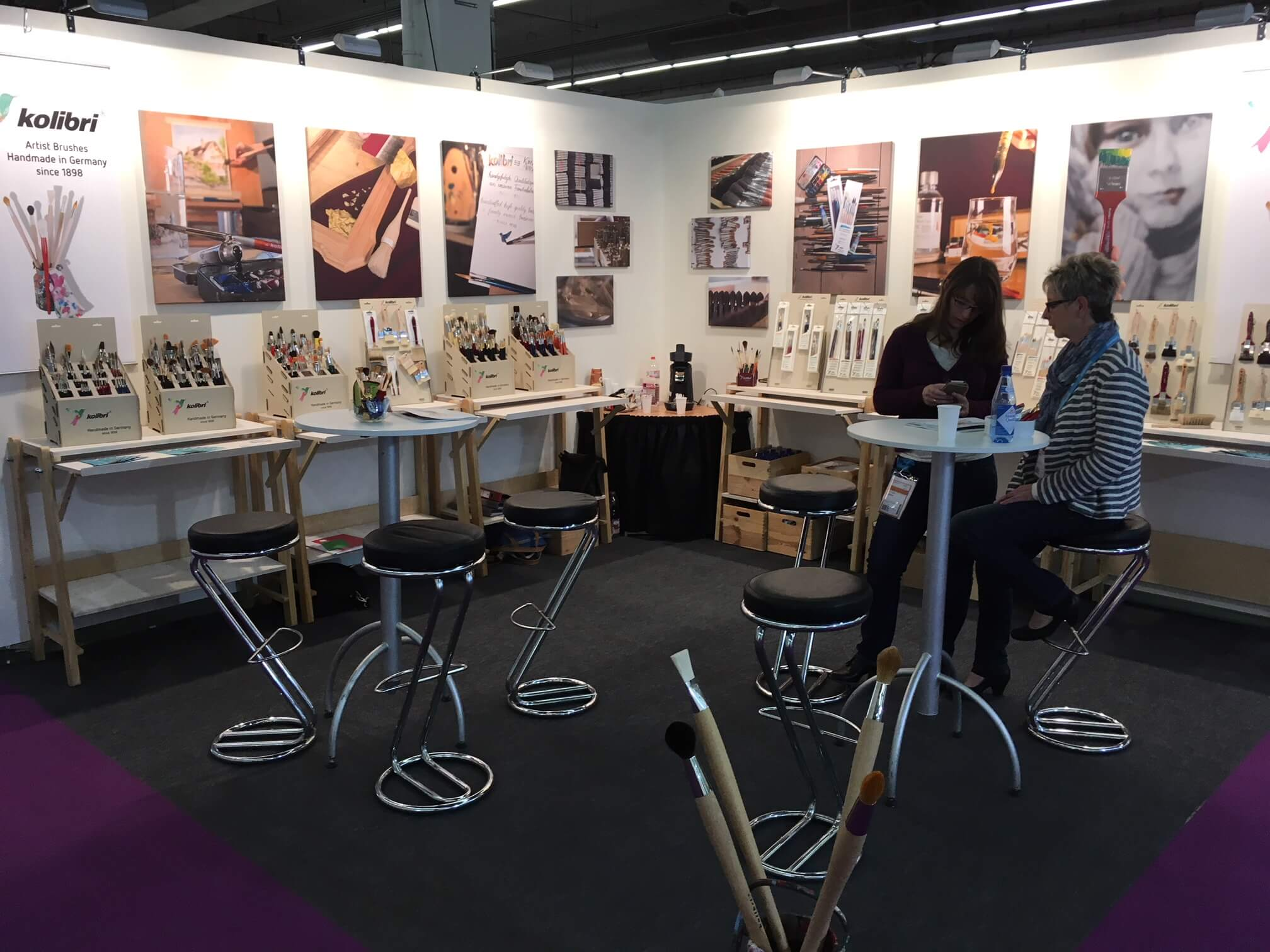 "kolibri booth at the ""Creativeworld"" 2018 in Frankfurt"